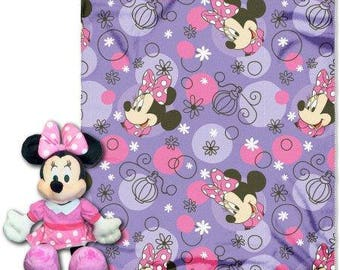 "Disney Minnie ""Perfume Pretty"" Fleece Throw with Hugger - Personalized"