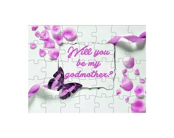 """""""Will puzzle you be my godmother?"""" 24 pieces"""