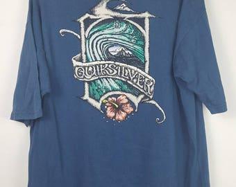 Vintage Quiksilver surfing tee shirt