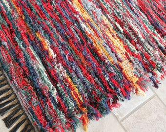 shag rug reversible wool rug woven pendleton wool rag rug throw rug - Rag Rugs