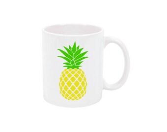 Pineapple Coffee Mug Pineapple Mug Custom Coffee Mug Personalized Coffee Mug Personalized Mug Personalized Coffee Mug