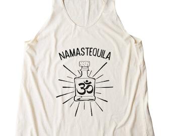 NAMASTEQUILA Shirt Slogan Shirt Fashion Cute Women Shirt Tumblr Clothing Teen Gifts Graphic Funny Shirt Yoga Top Gym Fitness Women Gifts