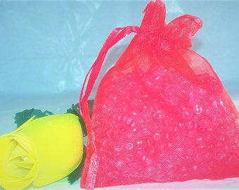 Aroma Beads Sachets, Aroma beads, set of 2 highly fragranced organza bag sachets, scented sachet Mix and Match