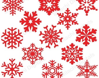 60% OFF SALE Snowflakes clipart, winter clipart, vector graphics, holiday clipart, digital clip art, commercial use - M462