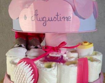 """""""Rain of love"""" diaper cake personalized"""