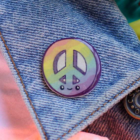 Rainbow Peace Pin