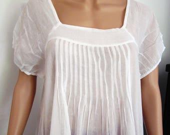 White tunic boho style