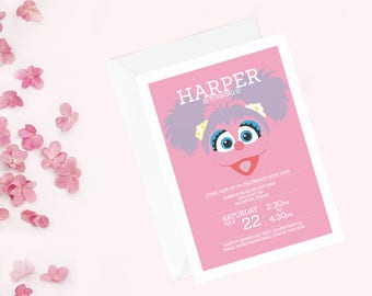 Abby Cadabby Invitation | Sesame Street Invitation | Abby Cadabby Invite | Abby Cadabby Birthday Party | Sesame Street Birthday Party