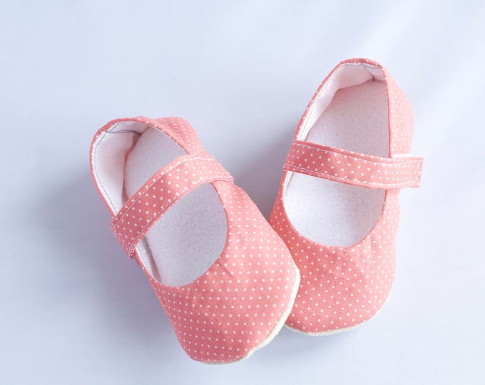 Pink Mary Jane soft sole shoe, pre walkers and toddlers