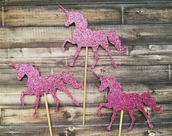 Cupcake Toppers >>UNICORN<< Cupcake/Food Topper/Baby Shower/Birthday Party