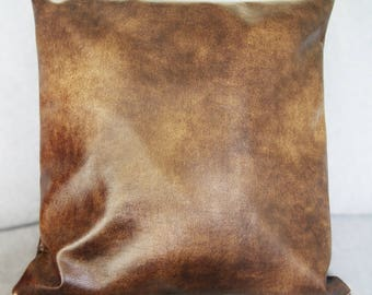 old brown leather 40 * 40 imitation Cushion cover