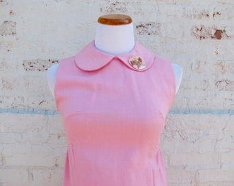 Vintage Bubblegum Pink Mini Dress 1960s