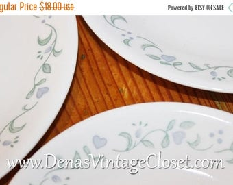 Summer Clearance Sale Vintage Corelle Country Garden Salad Plates and Bread  and Butter Dessert Plates Lot of 5 PCS