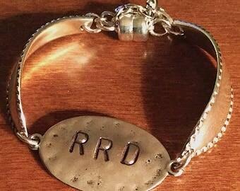 Monogram Bracelet, Personalized Jewelry Monogram Bracelet, Personalized Initial Bracelet, Custom Bracelet Initial Bracelet,