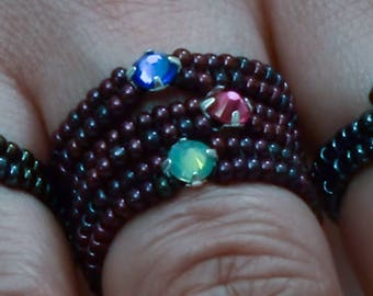 Beaded Stackable Ring 2 PDF (Instant download)