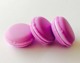 6 surprise macaron purple plastic boxes