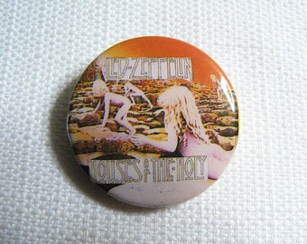 Vintage 80s Led Zeppelin - Houses of the Holy Album (1973) - Pin / Button / Badge