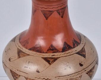 Native American, Maricopa Pottery Vase, Ca 1940's, #1156
