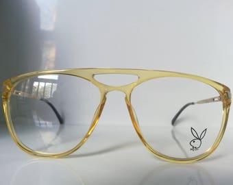 Vintage Playboy 4667 Man Aviator Eyeglass Frame Germany