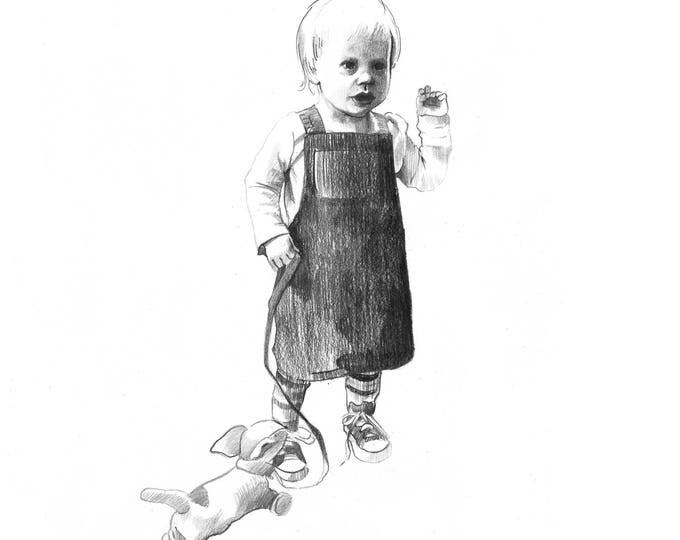Child Portrait in Pencil