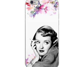 Bette Davis Floral iPhone Case