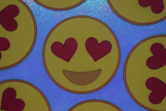 Heart Eyes Emoji Patch