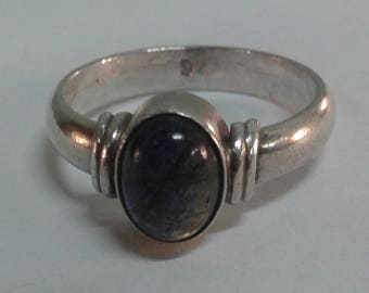 Smokey Onyx solid sterling silver 925 ring