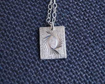 Vintage Sterling Silver Ingot with chain - Vintage Jewelry - Vintage Necklace - Vintage Silver Pendant - Vintage Silver Necklace