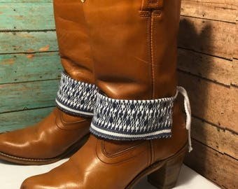 Reversable! Boot jewelry , boot chain, boot bracelet, boot bracelet, boot wraps- cotton fabric