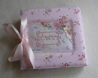 Personalized Fairy tail album 20 x 20 cm Photo Album Memory Book Handmade Gift, New Baby Album