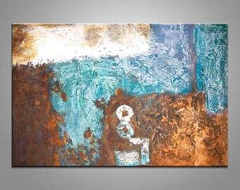 Abstract Art, Abstract Canvas Painting, Graffiti Wall Decor, Original Art, Large Painting, Modern Art, Canvas Painting, Metal Wall Art