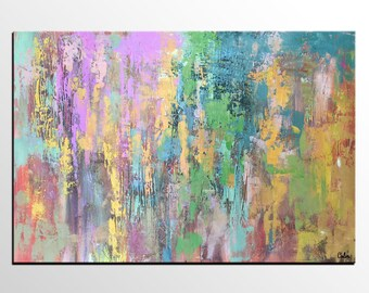 Large Abstract Art, Oil Painting, Abstract Painting, Canvas Art, Abstract Landscape Painting, Abstract Art, Canvas Art, Wall Art, Modern Art