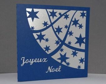 A thousand stars Midnight Blue Christmas card