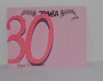 Number 30 birthday card
