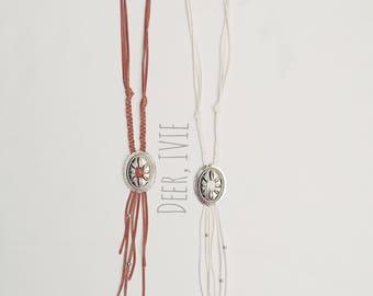 K E M P E R | Concho Tassel Necklace | Boho Necklace | Western Style | Leather Fringe