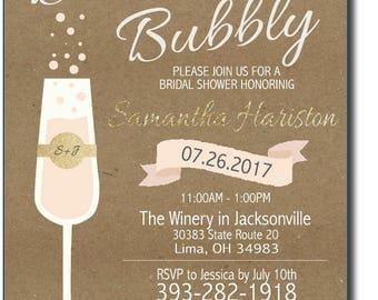 Brunch & Bubbly Bridal Shower Invite (PDF Only)