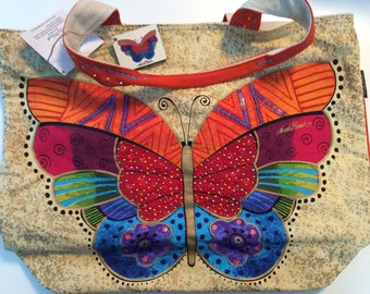 Laurel Burch Large Butterfly Tote Bag