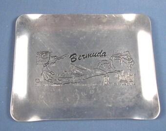 Vintage Metal Bermuda Tray Souvenir