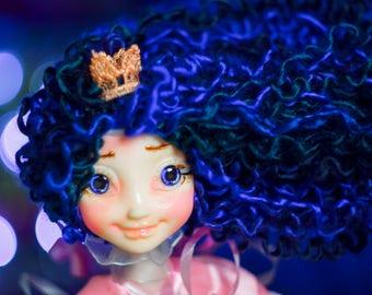 Magic doll Collectible art doll pixi doll children birthday heirloom doll Princess doll boho doll happy bright gift sunny posable doll