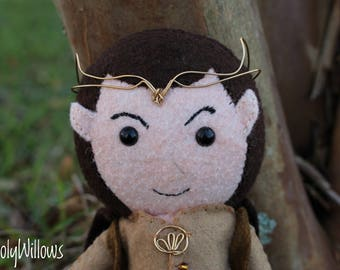 Lothlorien Elf, Elrond, Lord of the Rings, Elf, Felt Elf, Hobbit, Handmade Dolls, Felt Dolls