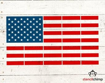 American Flag Stencil