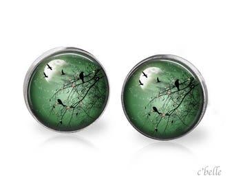Stud Earrings mystical landscape 19