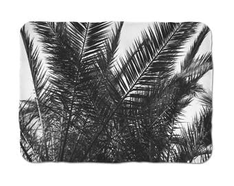 Tropical Blanket Art, Palm Tree Leaves, Palm Leaf Blanket, Sherpa Bedding, Soft Sherpa Blanket, Best Sherpa Blanket, Bed Throw