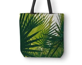 Palm Leaf Bag, Tropical Canvas Tote, Nature Tote Bags, Wine Tote Bag, Photo Bags, Beach Bag, Designer Handbags