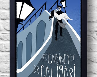The Cabinet of Dr. Caligari- Movie Poster Print, illustration, art, painting, gift