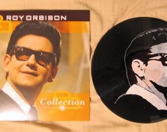 Roy Orbison portrait on Roy Orbison vinyl record