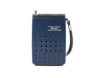 Vintage Space Age Realistic Mini Weatheradio Radio