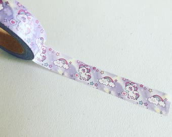 Purple Unicorn Washi Tape, Rainbow Girly Planner Washi, Decorative / Crafting Tape, Gift Wrapping Tape, Planner Supplies, Scrapbook Supply