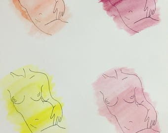 Pop Art Naked Woman