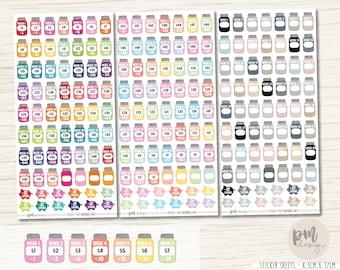 52 Week Savings Challenge Stickers - Planner Stickers - FS31